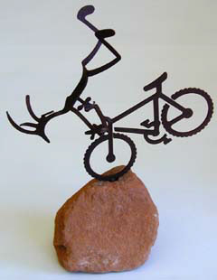 Bicycling Kokopelli Figure
