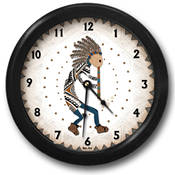 Kokopelli's Song #1 Wall Clock